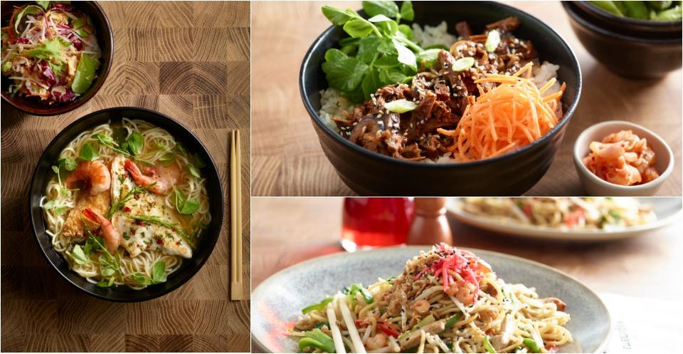 comida pan asiatica en wagamama