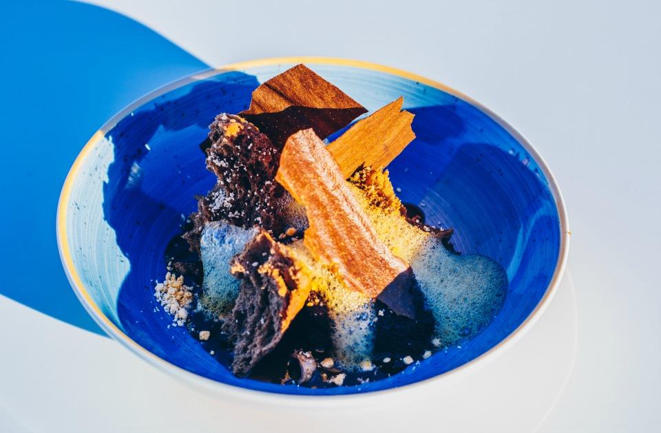 Tarta Cinco texturas de chocolate