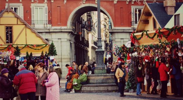 mercados de Navidad plaza mayor