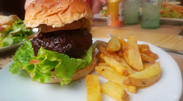 hamburguesa de carne de buey