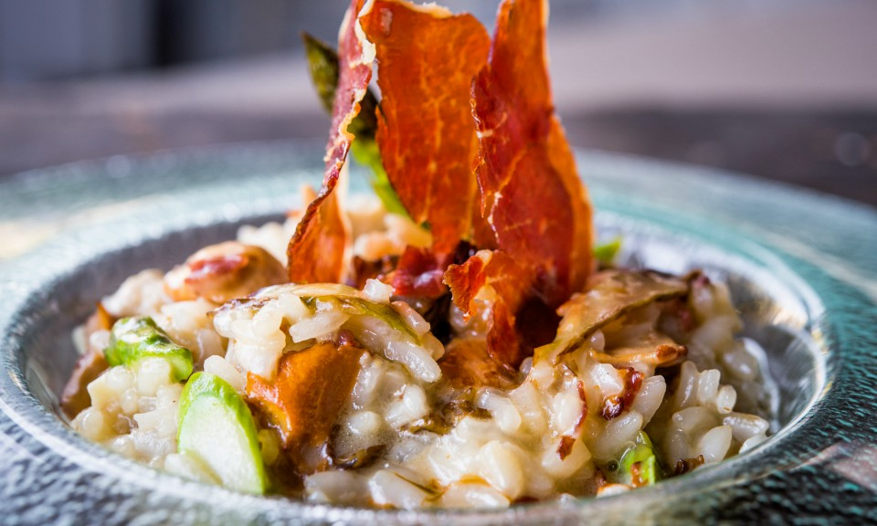 risotto con setas en Comala